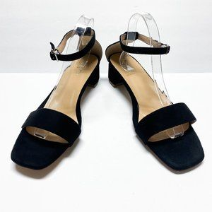 XYD Ankle Strap Open Toe Chunky Low Heel Sandals